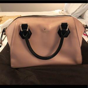 Kate Spade Pink & Black Leather Bag